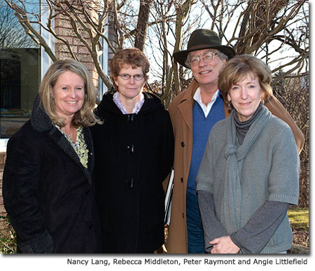 Nancy Lang, Rebecca Middleton, Peter Raymont and Angie Littlefield