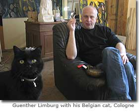 Guenther Limburg with his Belgian cat