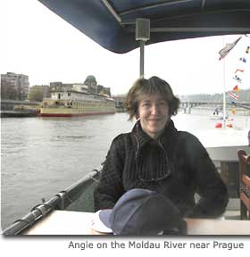 Angie on the Moldau River